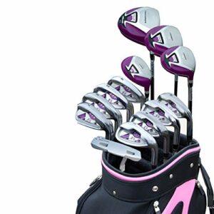 Xhtoe Club de Golf Ladies Golf Putter Golf Practice Club 13 Ensembles de Golf Poids léger PCS Clubs de Golf Femmes Clubs complets Ensemble de Club de Golf (Couleur : One Color, Taille : Carbon Rod)