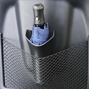 XieJ Boîte de rangement multi-fonctionnelle pour parapluie de voiture, porte-bouteilles d'eau, poubelle, noir