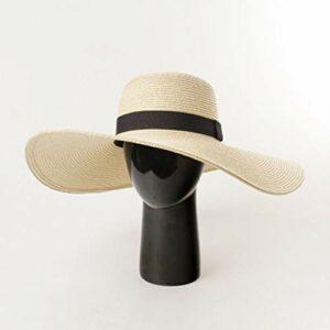 YHX Printemps et été Nouveaux modèles, pausch Avant-Toit Chapeau de Paille, Protection Solaire en Plein air, Chapeau de Plage Touristique