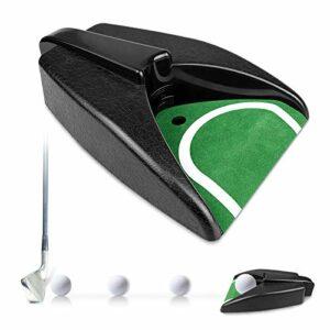 yue PGA Tour Putting Unité de putting avec retour automatique de balle de golf, machine de retour automatique pour entraînement de golf en intérieur et en extérieur