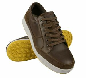 Zerimar Chaussure de Golf en Cuir | Chaussure de Sport Hommes | Chaussures de Golf | Golf Chaussures Cuir | Sport Golf Chaussures | Couleur: Marron Taille 44