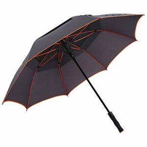 ZHANGXIAOYU Parapluie Double Coupe-Vent Hommes Parapluie Golf Parapluie Longue Famille en Plein air (Color : Natural)