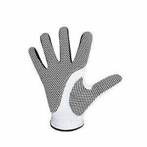 25 Yards Hommes Gants De Golf pour Microfibre Blanc Main Droite Noir Antiderapant Gants Respirant Sport Entraînement pour Le Golf Accessoires Jouets D'extérieur