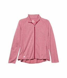Adidas Veste en tricot chiné pour fille, Garçon, Blouson, Heathered Knit Jacket, Mélange Power Berry, X-Small