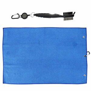 BESPORTBLE 2 Pièces Golf Cleaner Outils Golf De Nettoyage Brosse Groove Cleaner Microfibre Serviette avec Crochet