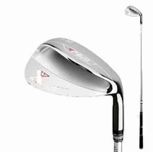 Crestgolf Golf Wedge PGM Golf Droitier pour Hommes Golf Wedge Golf Sand Club (Argent / 56 °)