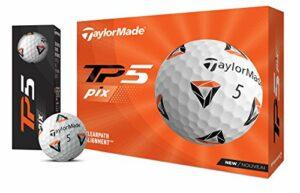 TaylorMade Balles de Golf Unisexes TP5 Pix, Blanc, Taille Unique