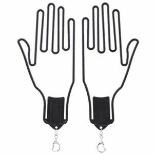 XINMYD Gants de Golf civière, 2 pièces Gant de Golf Support en Plastique civière Support Support Cintre Outil Accessoire approvisionnement Noir