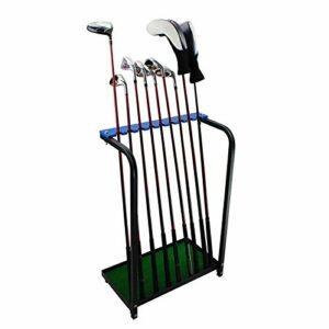 ZJMK Tapis de Golf Présentoir D'organisateurs de Club de Golf, 9 Porte-Putter en Bois Équipement de Support D'organisateur de Club de Golf, Support de Rangement Extérieur pour Pilote de Golf