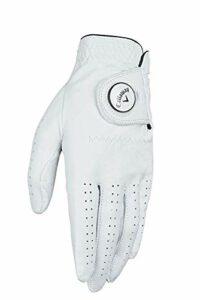 Callaway Golf Dawn Patrol Gant de Golf pour Homme 100% Cuir avec marqueur de Balle, Homme, Dawn Patrol Marker Glove, Blanc, Small