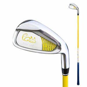 Canness-Sports Équipement de Golf pour débutants pour Enfants 7 Club de Pratique de Golf Durable et léger avec Club en Fer et poignée Confortable en Caoutchouc Coins de Sable de Golf