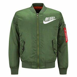 Down Vakets Hommes, Veste Chaude Vapeur Volide Costume de Coton de Coton for Hommes Sports décontractés Veste de Grande Taille Colball Cardigan Cardigan Bombardier Vestes (Color : Green, Size : M)