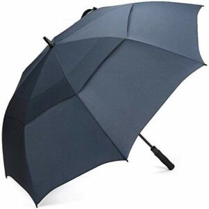 G4Free Parapluie de Golf 55/61/69/72 Pouces Coupe-Vent Double Canopée Ouverture Automatique Extra-Large Solide pour Hommes Femmes (Bleu Marin, 72 Pouces)