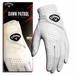 Gants de golf en cuir de qualité supérieure Callaway Dawn Patrol avec technologie de réduction de l'humidité 2019, blanc, Men's Cadet XL