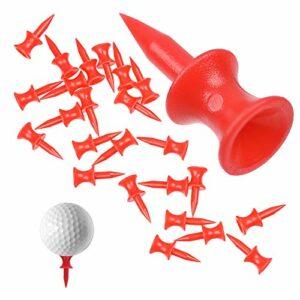 Golf Tees en Plastique Rouge 31mm Taille Unique Château de Golf Professionnel Durable Tees de Golf Tees Titulaire Golf pour Le Accessoires de Golf pour Le Sport Femmes Hommes Enfants 100 Pièces