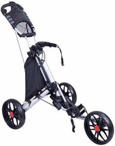 HY-WWK Golf Push/Pull 3 Wheel Push Pull Golf – Ouverture/Fermeture En Deux Étapes – Le Plus Petit Golf Léger Pliable Avec Tabouret Inclus