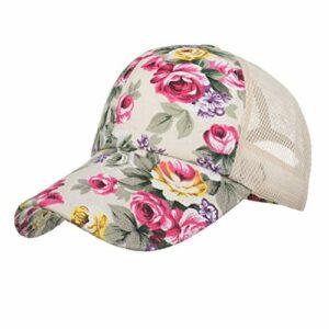 KAIDANB Casquette de baseballCasquette de Baseball rétro Unisexe Motifs Floraux Ajustables imprimé Floral Maille Chapeau Casquette,1