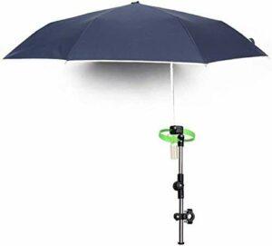 KIKILIVE Parapluie Versa Brella pour toutes les positions avec pince universelle, parapluie à clipser pour vélo avec dispositif de fixation pour parapluie