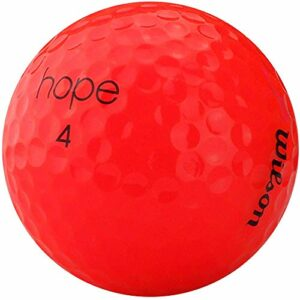 lbc-sports Wilson Hope Premium Selection Lot de 50 balles de golf d'occasion Rose vif