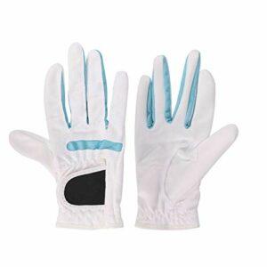 LKHF Équipement de Golf de Gants de Golf Blancs Respirants réglables pour Les Femmes d'activité de Plein air