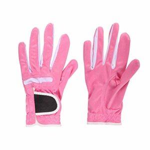 LKHF Équipement de Golf de Gants de Golf Rose Respirant réglable pour Les Femmes d'activité de Plein air