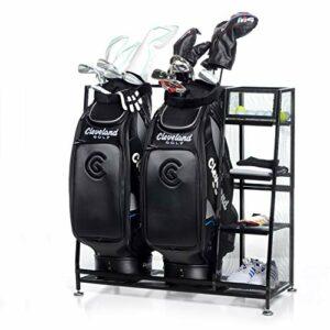Milliard Organiseur de Golf–Coupe 2Sacs de Golf et d'autres équipements de Golf et Accessoires dans CE Double Pratique de Golf Support de Rangement–81,3x 40,6x 94cm