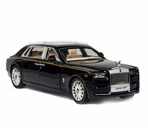Modèle de voiture 1:24 pour Rolls-Royce Phantom – Modèle de voiture allongé en alliage moulé sous pression – Modèle léger – Collection cadeau – Couleur : noir