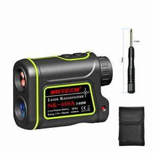 Nktech Télémètre laser, télescope 4-en-1, portée 600 m, 1 000 m, 1 200 m, 1 500 m, grossissement 8x, mesure vitesse, hauteur, angle, distance, rechargeable, pour extérieur, chasse, golf
