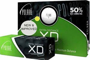Polara Golf XD Lot de 12 balles de golf jaune extra distance, réduit les crochets et les tranches jusqu'à 50 %