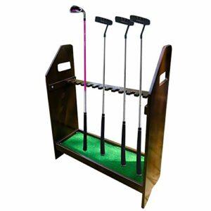 SGSG Support de Support de Club de Golf organisateurs de Support de Club de Golf en Bois – 13 Porte-Putter, Support de Rangement pour Organisateur d'étagère de Club de Golf en Bois