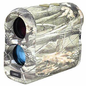 Télémètre de télescope, télémètre de télescope de camouflage 600 m, télémètre de mesure de distance de chasse, pour l'alpinisme, le camping, le terrain de golf, l'énergie électrique(Brass)