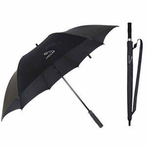YEEXCD Voiture Longue Manche Parapluie de Pluie Golf Parapluie Coupe-Vent 27 Pouces Auto-Ouverture Auto-Ouverture Longue Manche Parapluie Jaguar Logo
