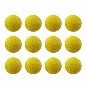 Abaodam Lot de 5 balles d'entraînement de golf en caoutchouc élastique pour adultes Jaune
