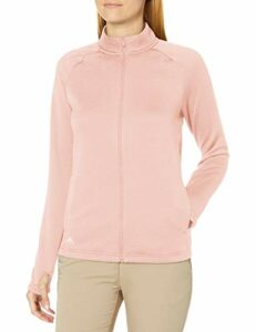 Adidas Veste de golf texturée Rose Taille M