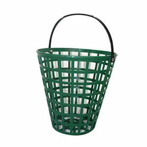 Afittel0 Panier Balle Golf conteneur Stockage extérieur Vert Portant Pratique Maison Gain Place en Nylon Clubs Grande capacité empilables Portable avec poignée(100)