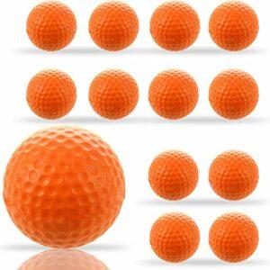 Balle De Golf En Mousse Entrainement ÉPonge PU 12 Pieces,Balle De Golf Doux Confortable 5 Couleurs Votre Choice Pratique En Plein Air IntÉRieur Pour Enfants Jaune Bleu Orange (12 Pcs, Orange)