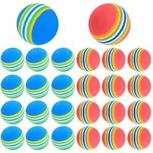 Balles de Golf, Balle en Mousse, Balles D'Entraînement Golf EVA Souple – 26 Pcs/Bleu, Rouge