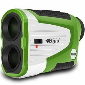 BIJIA Télémètre de Golf 700m, Telemetre Golf Laser avec Interrupteur on/Off de la Pente à Verrouillage Drapeau et Vibration, Mesure de Distance, grossissement 6X, Batterie Rechargeable Batterie