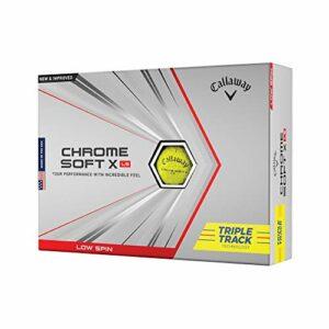 Callaway BL CG CHRMSFT X LS Yellow Triple Tracks 12B PK Chrome Soft X à Faible Rotation Balles de Golf 2021 Adulte Unisexe, Taille unique