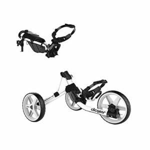 Clicgear Modèle 4.0 Chariot de Golf à Traction/Poussée à 3 Roues White