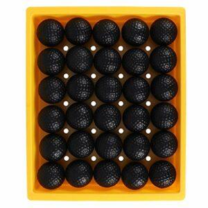 CLISPEED 30Pcs Pratique des Balles de Golf Combat de Balle Restreint pour La Pratique du Golf Entraînement de Golf Intérieur Ou Extérieur (42Mm Noir)