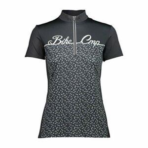 CMP T-Shirts de Cyclisme avec Impression, Femme, Anthracite, 40