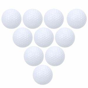 Dilwe Balles de Golf, 10 pièces balles de Pratique de Golf à Double Couche, Accessoires de Golf