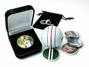 EzeePutt Marqueur de balle de golf personnalisé avec votre propre photo