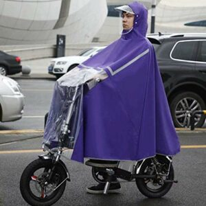 FDSAD Mobility Scooter Cover Waterproof Large Rain Cape Coat Mobility Scooter Motorcycle Raincoat Rain Cover Poncho Rainwear, Full Protection with Visor,Violet