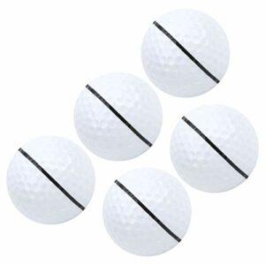 Golf Stars and Stripes, 5 balles de compétition Double Couche avec 392 Motifs de soufflerie, étoiles et Rayures, pour Tous Les Types de terrains de Golf