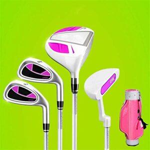 HHTX Club de Golf pour Hommes et Femmes Golf pour Enfants Putter Rubber Grip Golf Practice Club pour 3-12 Ans garçon et Fille avec Sac de Golf, 1 Jeu de Club de Golf pour Hommes et Femmes (couleu
