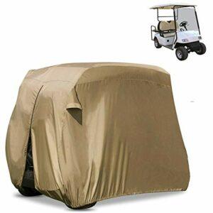 Housse De Voiturette De Golf pour Quatre Personnes – Boîtier De Rangement Transparent étanche pour Chariot De Golf pour Voiture De Club EZ Go Et Yamaha,Yellow275×122x168cm