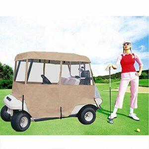 Housses de voiturette de golf, housse de pluie de bâche de camouflage de fenêtre en PVC transparent avec entrée à glissière tous temps étanche à la poussière étanche à la poussière 200Cm * 110Cm
