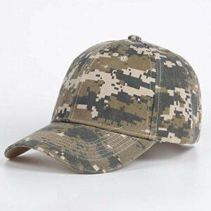 KAIDANB Casquette de baseballCasquette de Baseball en Coton Casual Camouflage Armée Casual pour Le Sport en Plein air,2